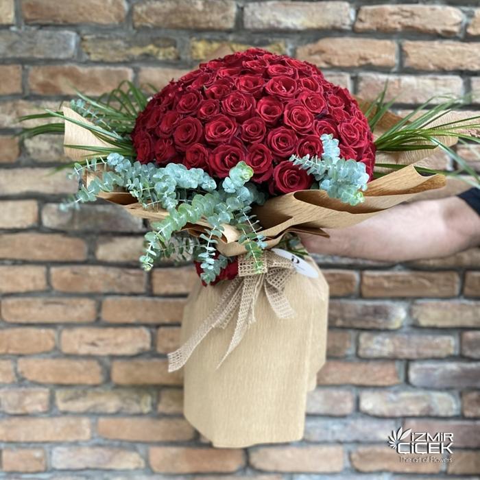 101 Güllü Dev Buket Çiçek