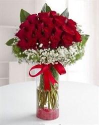 Cam Vazoda İthal Güller 41 Adet